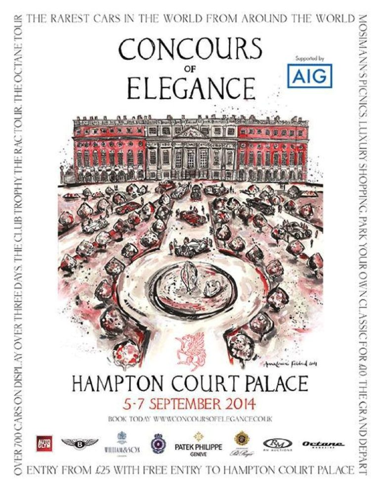 Official Poster for the 2014 Concours of Elegance at Hampton Court Palace Revealed